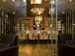 ely bar & brasserie. private wine room