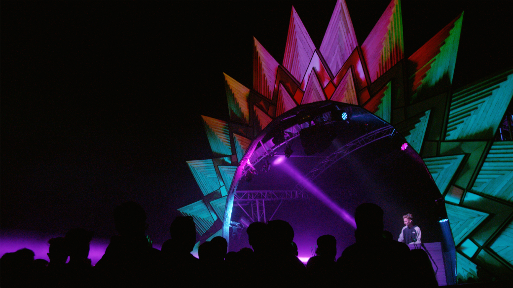 Pic 1 - Algorithm's Kaleidoscope Stage at Bestival